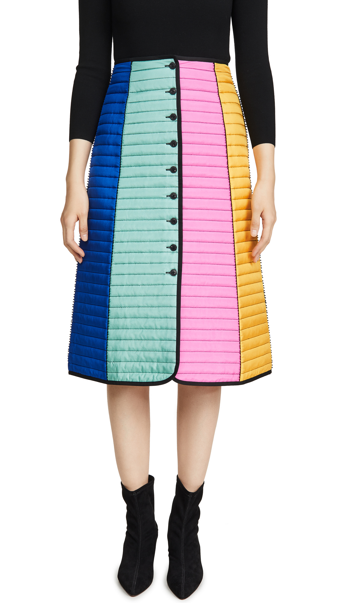 Buy Tory Burch online - photo of Tory Burch Colorblock Quilted Skirt