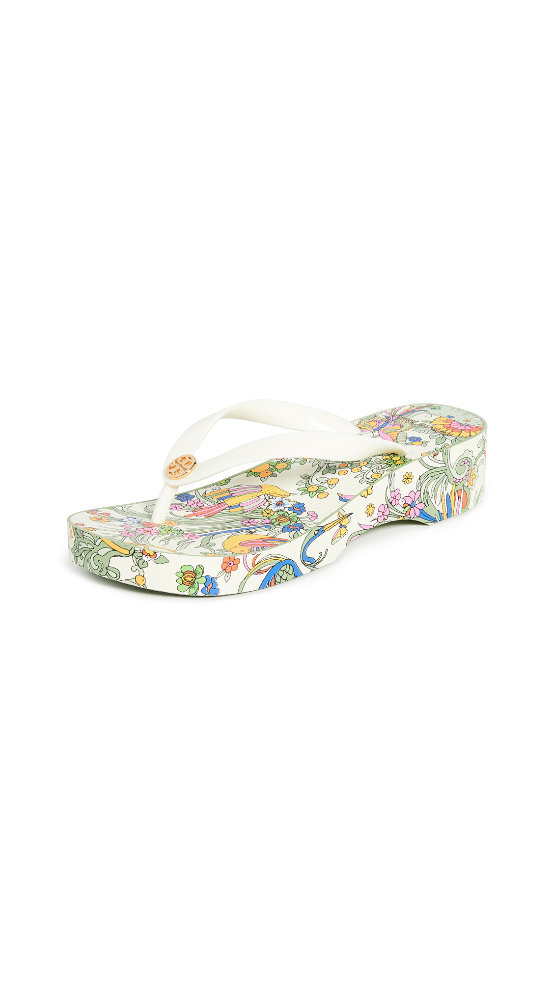 Buy Tory Burch online - photo of Tory Burch Cutout Wedge Flip Flops