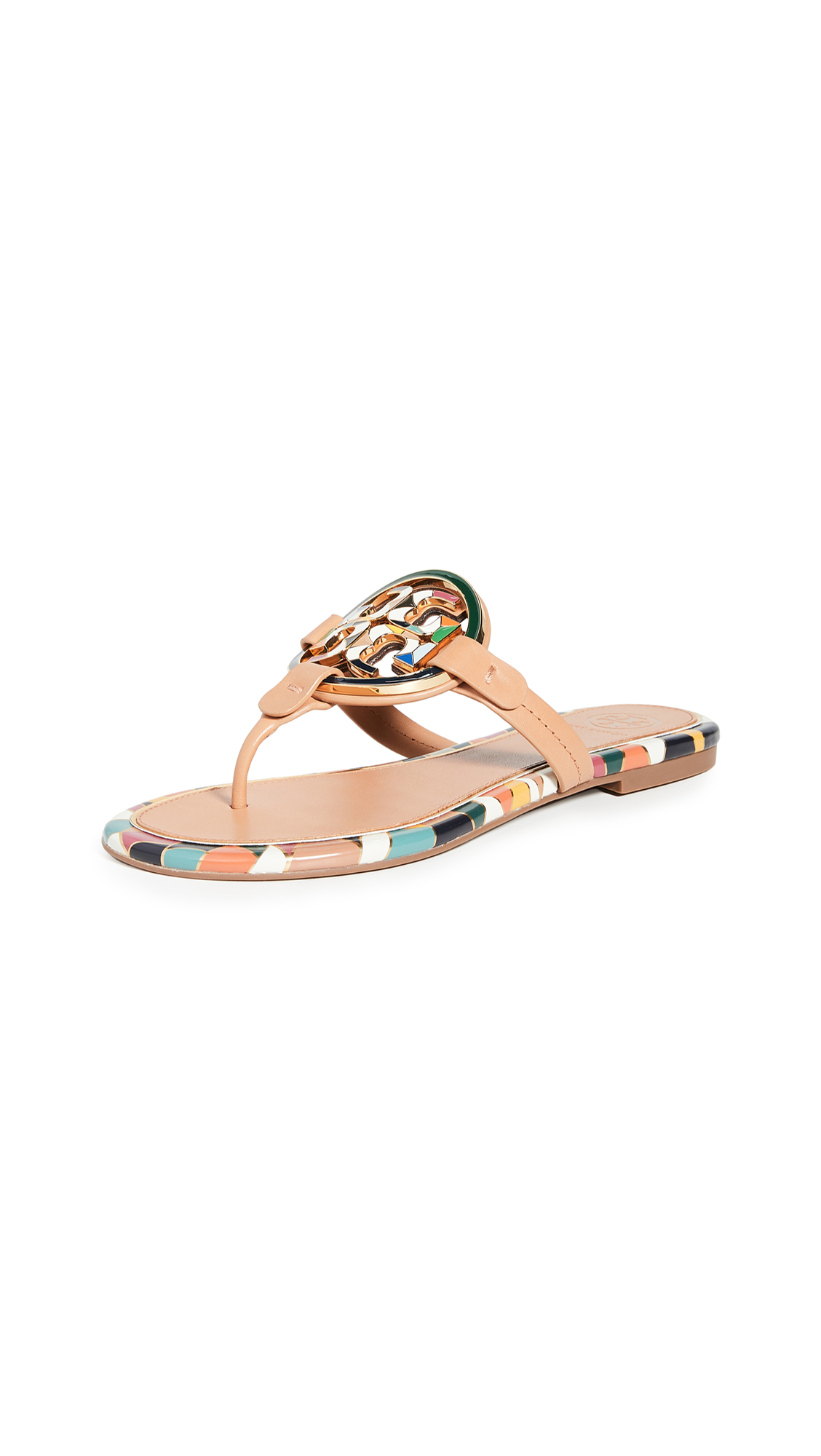 Buy Tory Burch online - photo of Tory Burch Enamel Miller Sandals