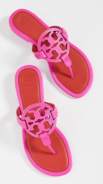 Tory Burch Miller Sandal In Fuchsia And