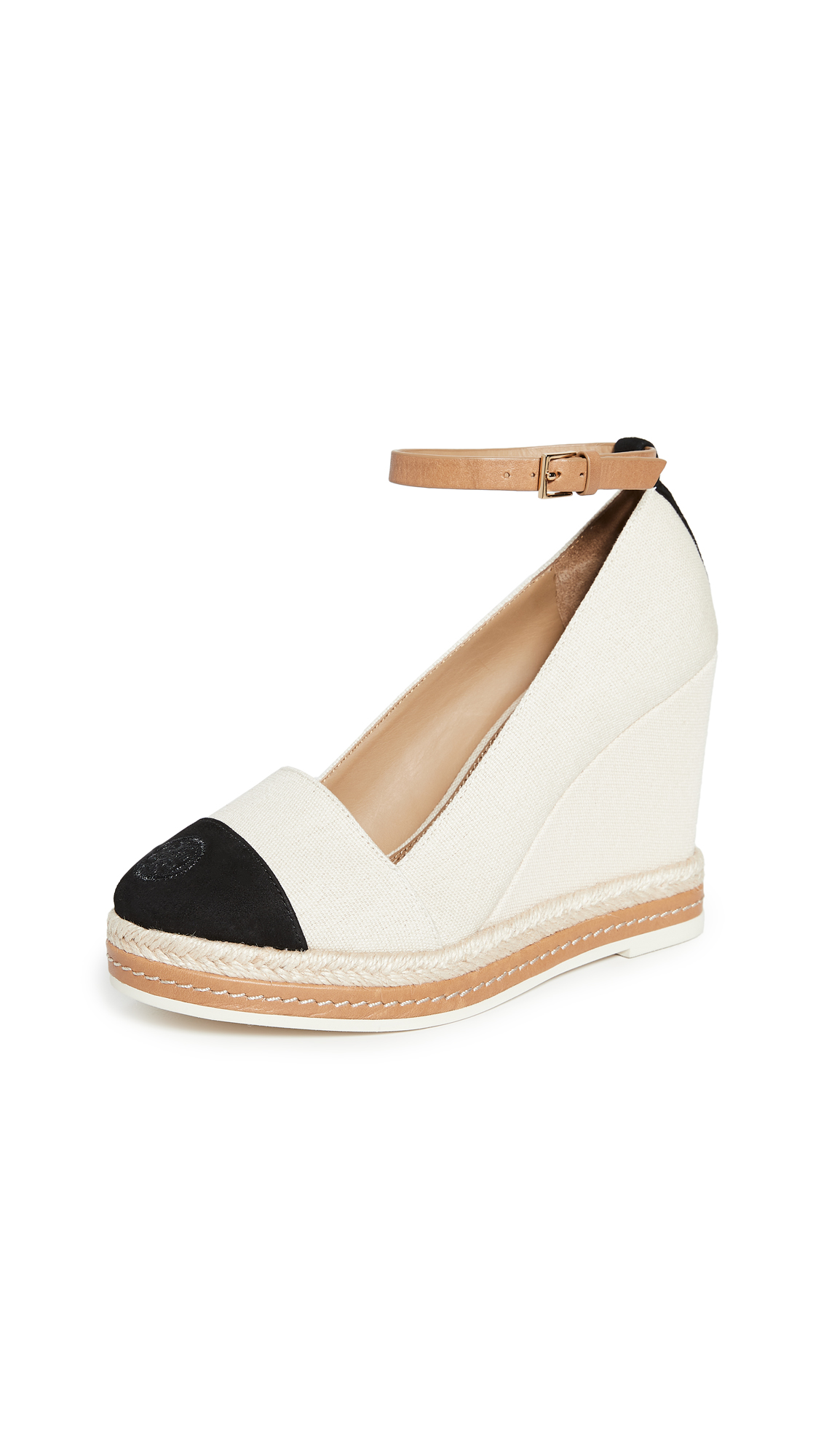 Buy Tory Burch online - photo of Tory Burch Colorblock Wedge Espadrilles 105mm