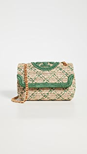 Tory Burch Fleming Soft Straw Shoulder Bag