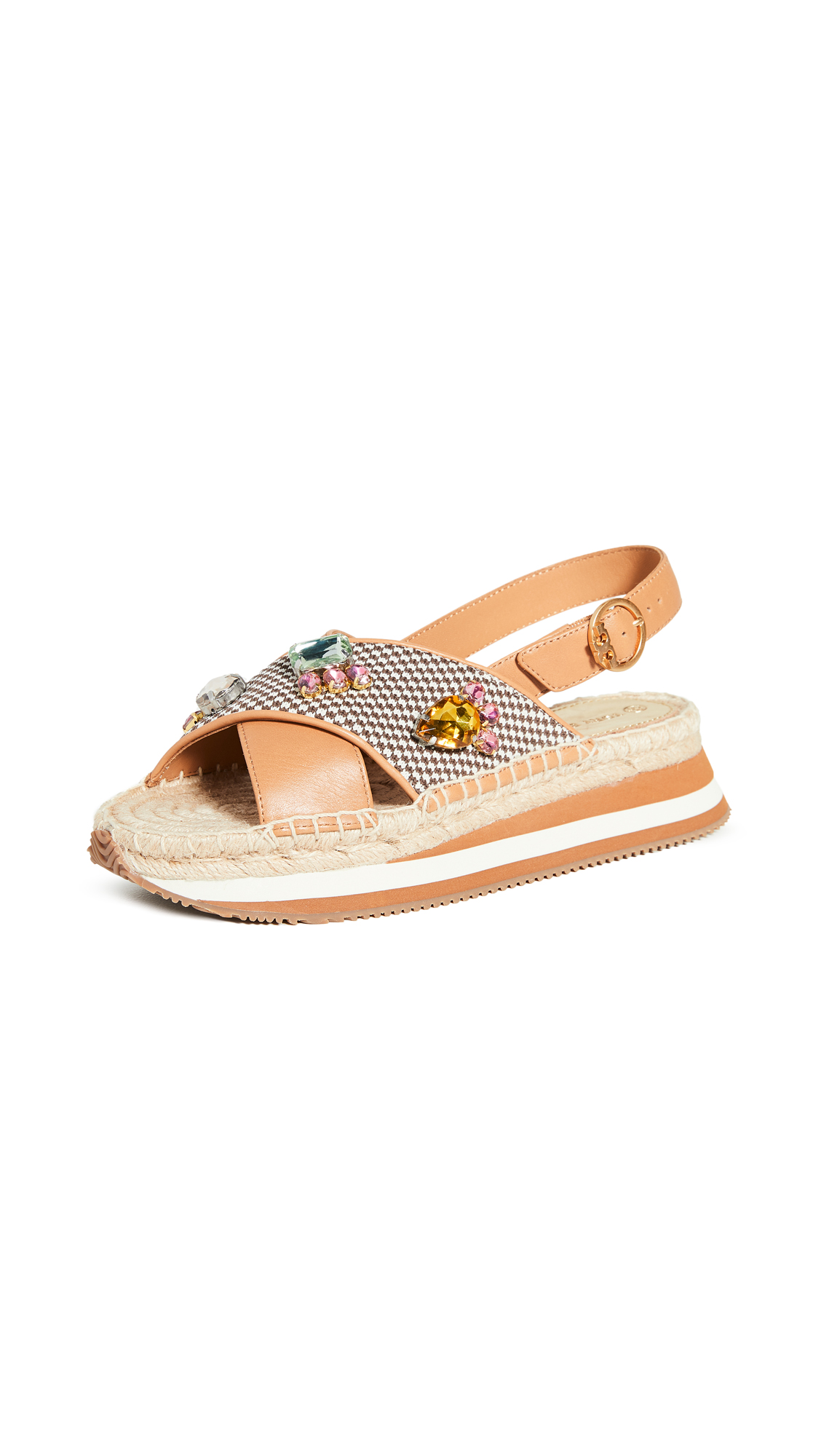 Buy Tory Burch online - photo of Tory Burch Daisy Crystal Sandals