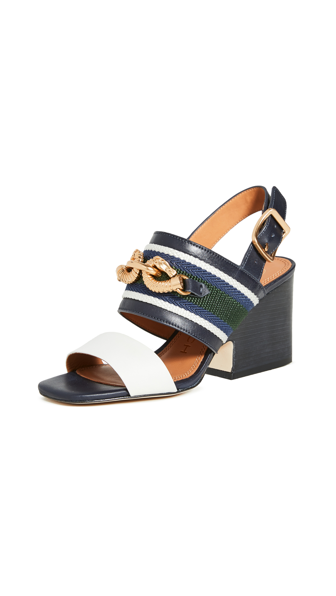Buy Tory Burch 75mm Jessa Block Heel Sandals online, shop Tory Burch