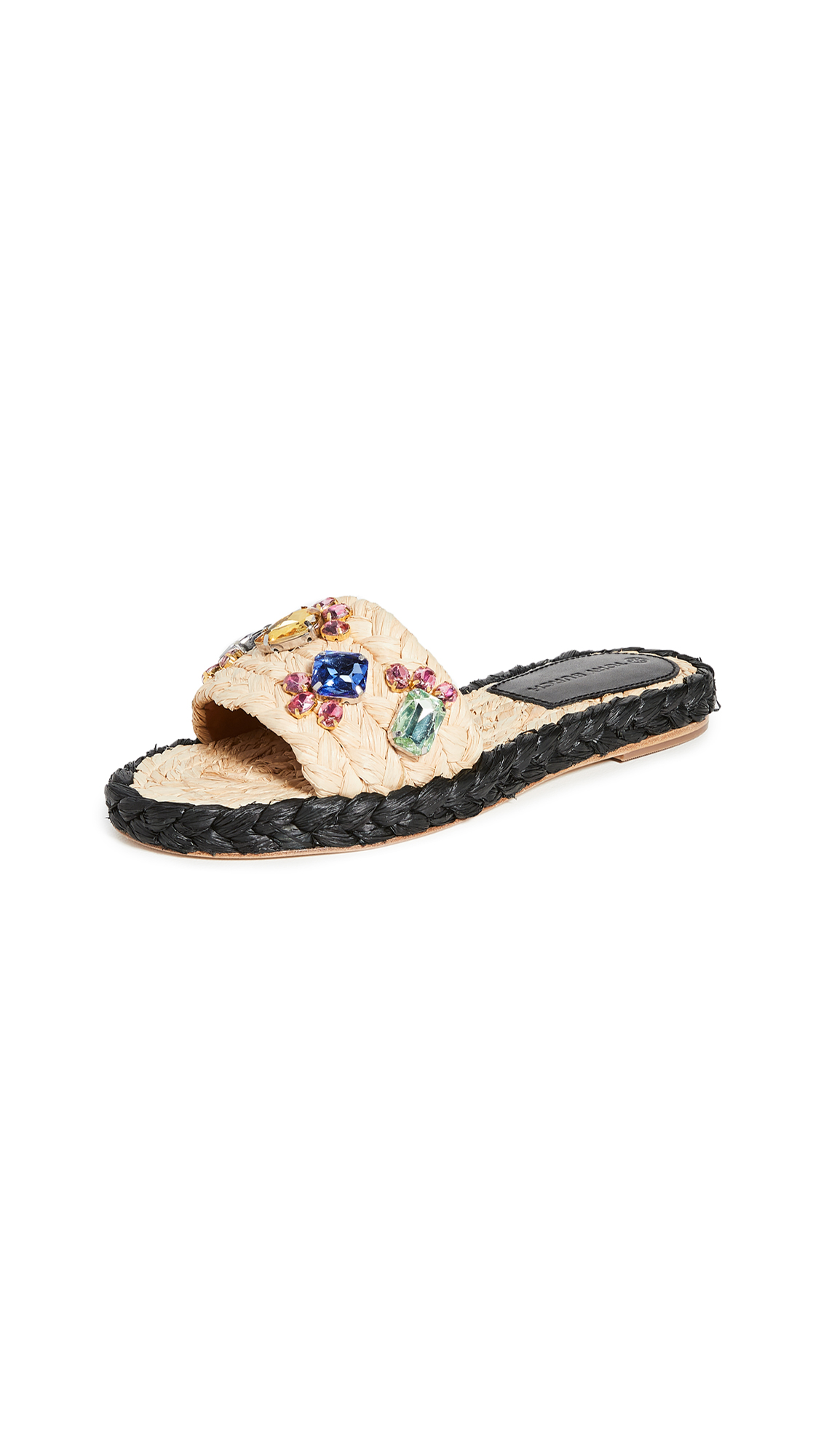 Tory Burch Crystal Raffia Slides – 50% Off Sale