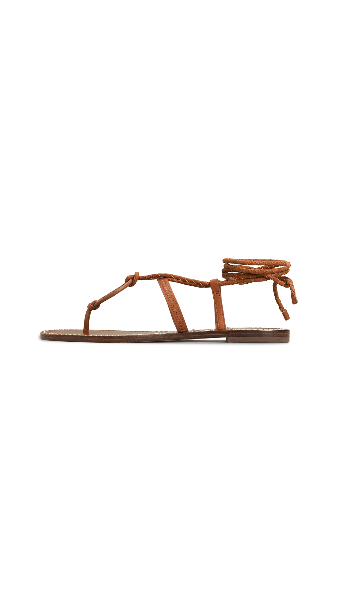 Buy Tory Burch Miller Braided Ankle-Wrap Sandals online, shop Tory Burch