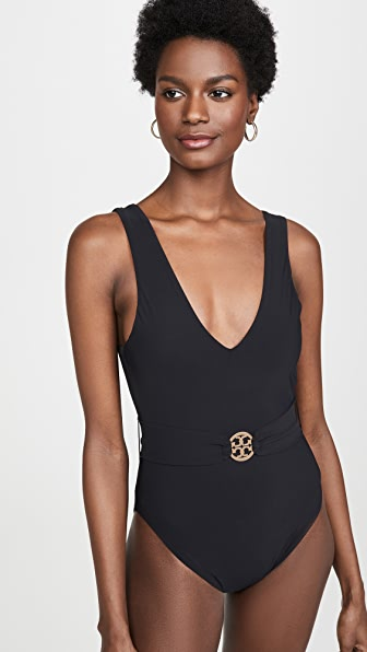 Tory Burch One-pieces MILLER PLUNGE ONE PIECE