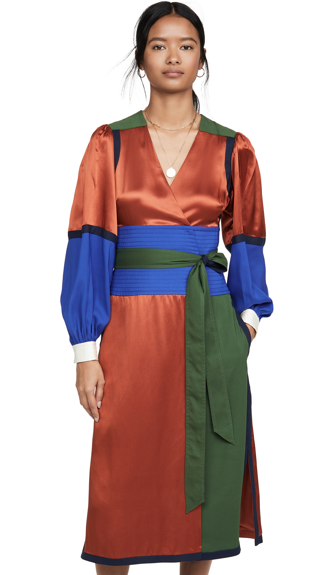 Tory Burch Colorblock Silk Wrap Dress - 30% Off Sale
