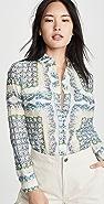 Tory Burch 印花棉质女式衬衫