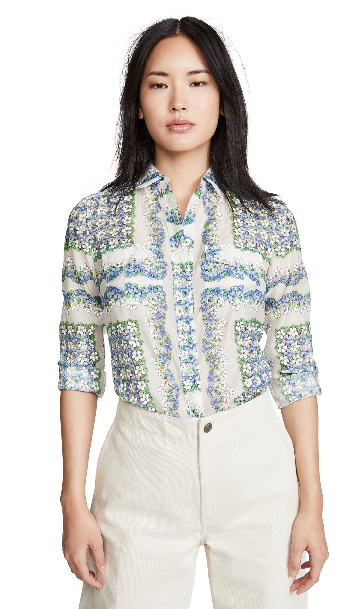 Tory Burch Printed Cotton Blouse - 30% Off Sale