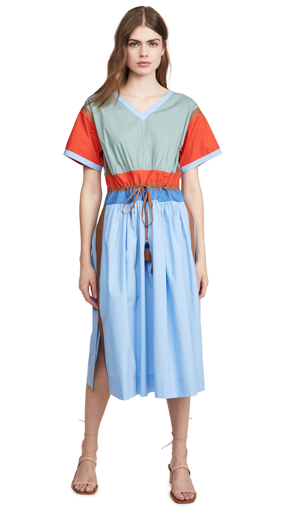 Tory Burch Colorblock Poplin Dress - 30% Off Sale