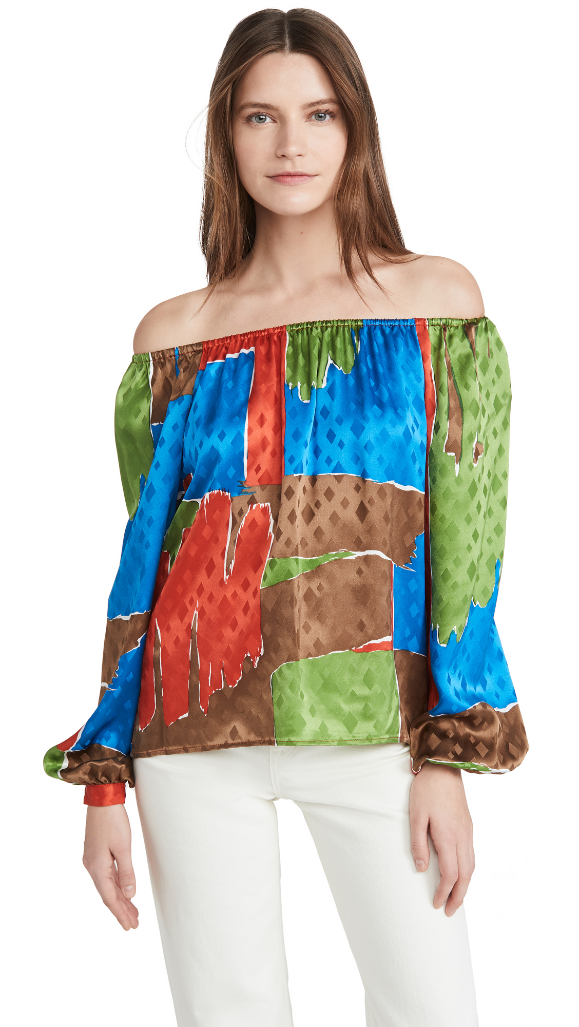 Tory Burch Off Shoulder Silk Top – 40% Off Sale
