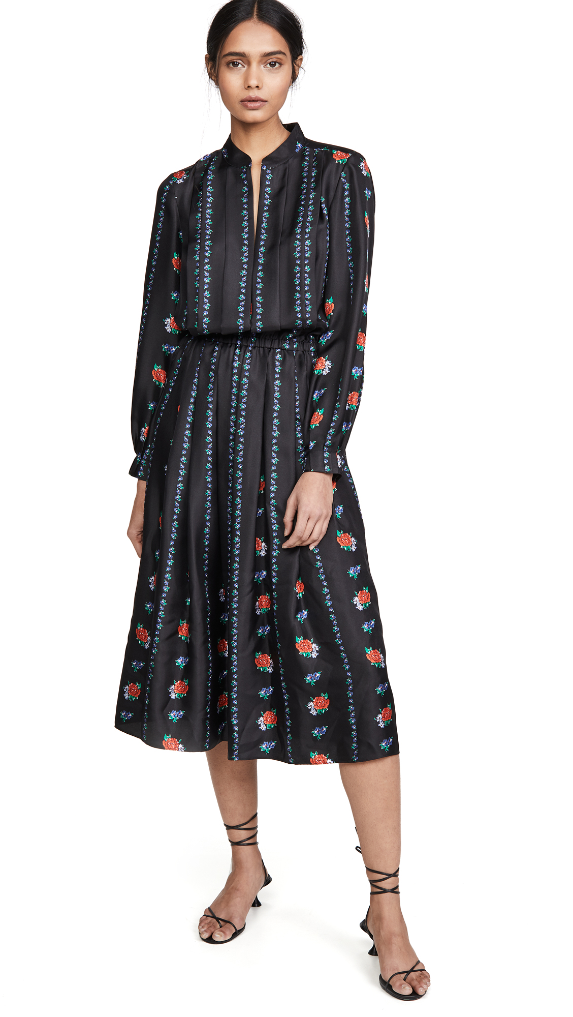 Tory Burch Printed Long Sleeve Dress - 50% Off Sale