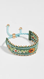 Tory Burch Embroidered Friendship Bracelet