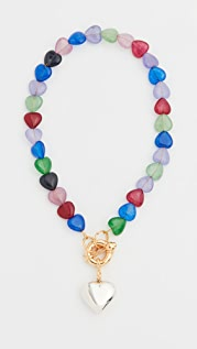 Timeless Pearly Multi Heart Pendant Necklace