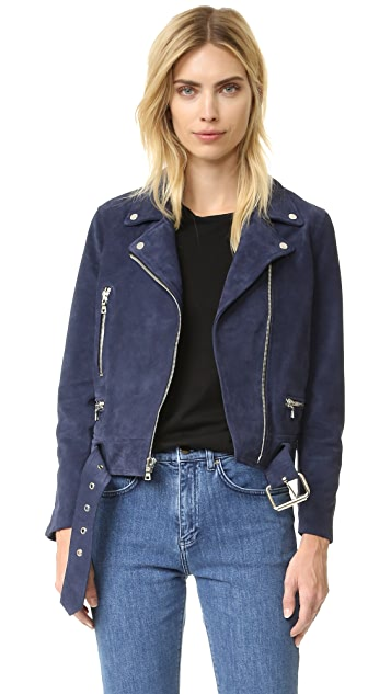 ThePerfext Suede Moto Jacket