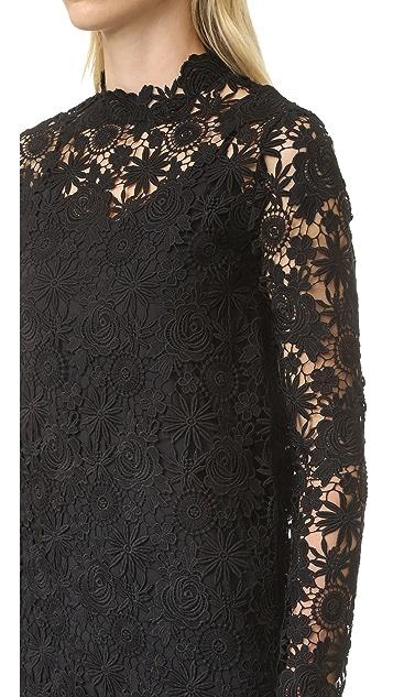 ThePerfext Long Sleeve Crochet Dress
