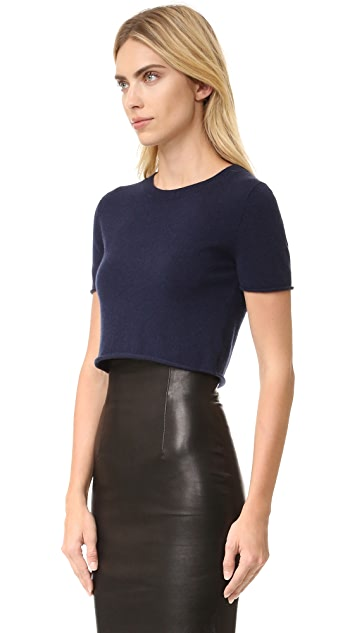ThePerfext Cropped Short Sleeve Sweater | SHOPBOP