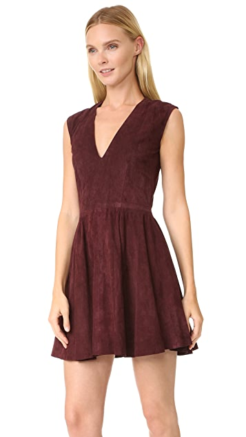 ThePerfext Rosie Suede Shift Dress