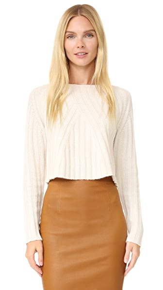 ThePerfext Casey Cropped Long Sleeve Sweater