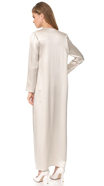 ThePerfext Long Silk Coat
