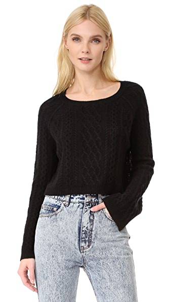 ThePerfext Cashmere Cable Top at Shopbop