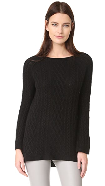 ThePerfext Cable Cashmere Tunic