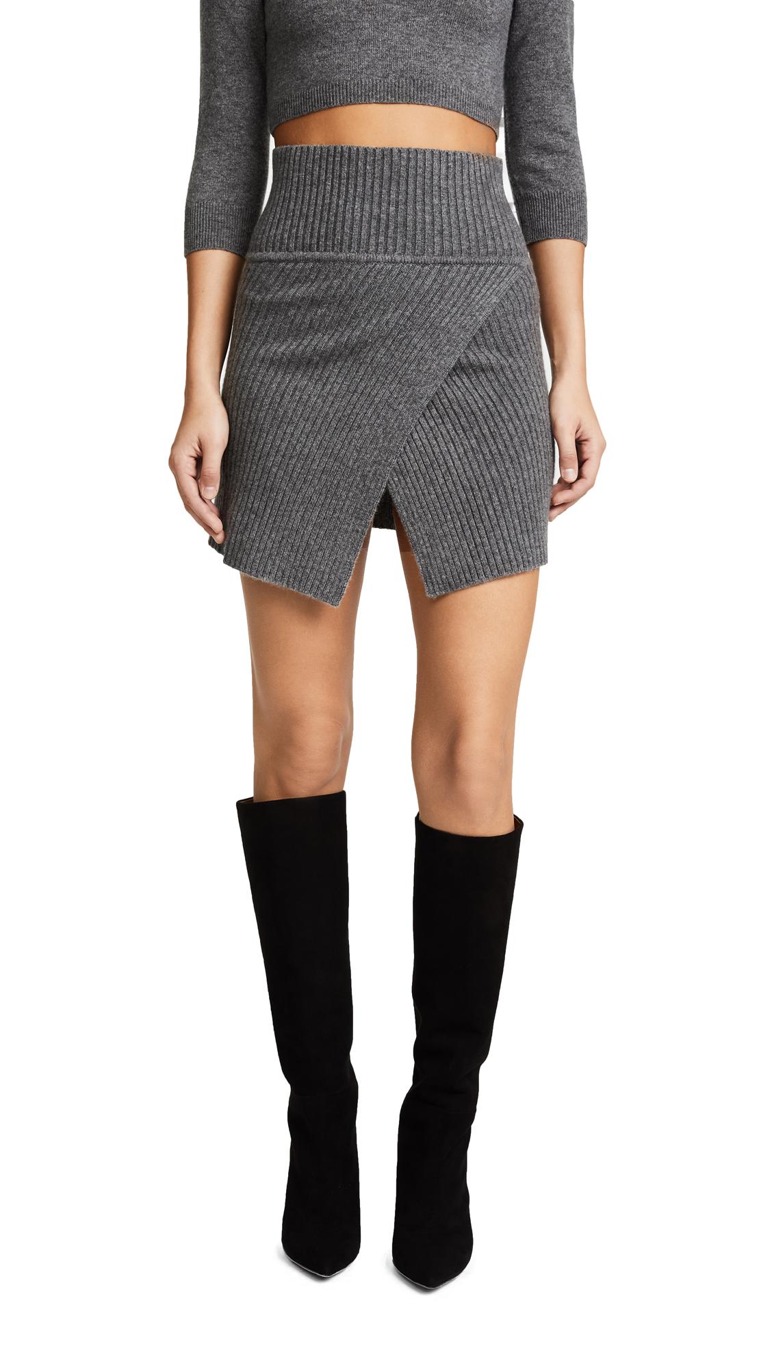 ThePerfext Cross Front Miniskirt - Thunder