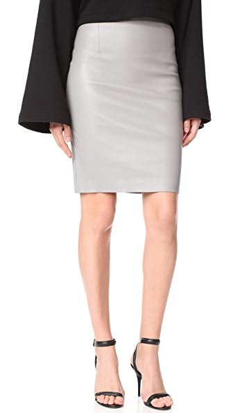 ThePerfext Amsterdam High Waisted Skirt In Grey