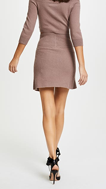 ThePerfext Cross Front Miniskirt