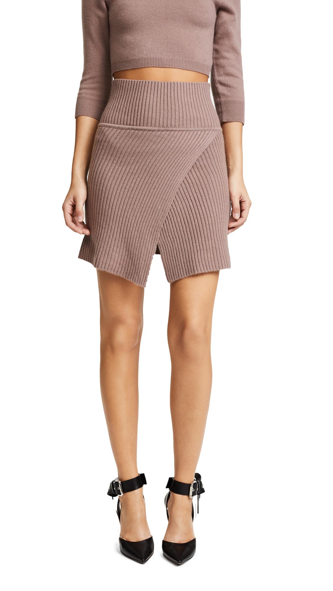 ThePerfext Cross Front Miniskirt - Rose