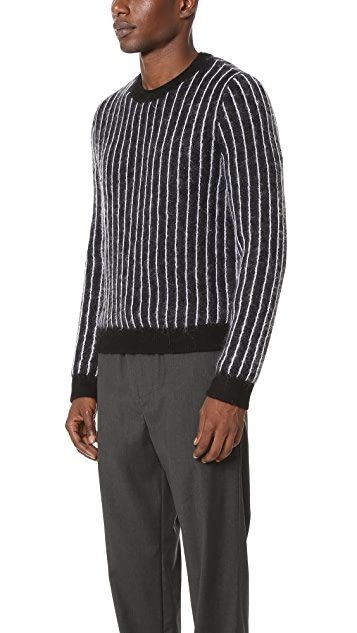 3.1 Phillip Lim Cropped Boxy Pinstripe Pullover