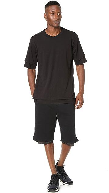 3.1 Phillip Lim Nylon Combo Classic Leisure Shorts