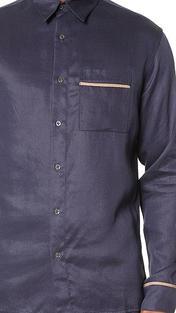 3.1 Phillip Lim Long Sleeve Pajama Piping Shirt