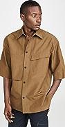 3.1 Phillip Lim Short Sleeve Oversized Uniform Shirt