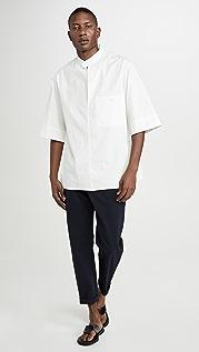 3.1 Phillip Lim Oversized Washed Poplin Brand Collar Shirt