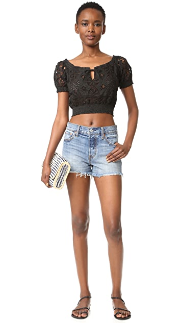 Temptation Positano Short Sleeve Crop Top