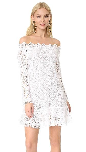 Temptation Positano Off Shoulder Dress - White