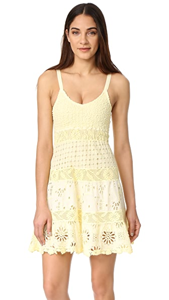 Temptation Positano Spaghetti Strap Dress - Giallo