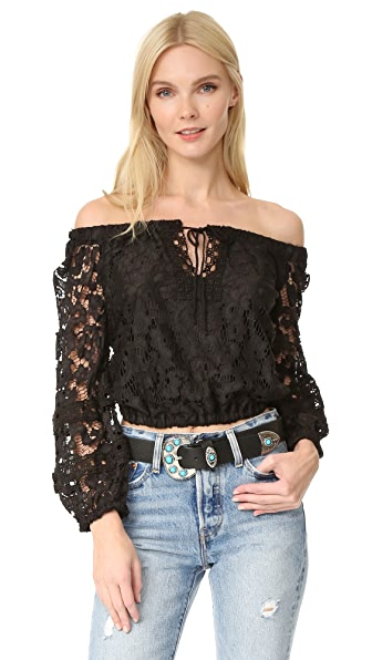 Temptation Positano Off Shoulder Crop Blouse