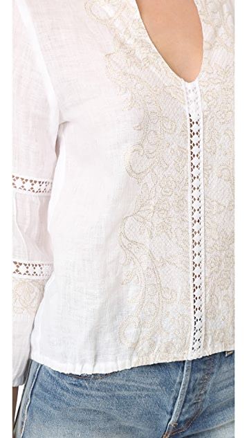 Temptation Positano Embroidered Blouse