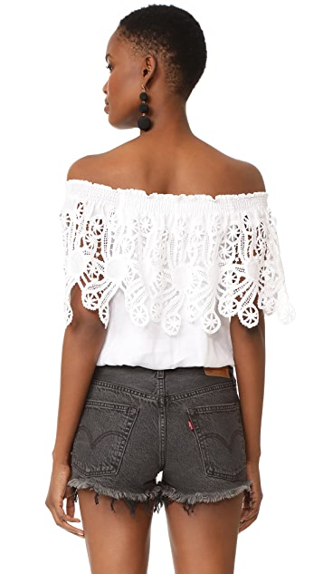 Temptation Positano Off the Shoulder Ruffle Blouse