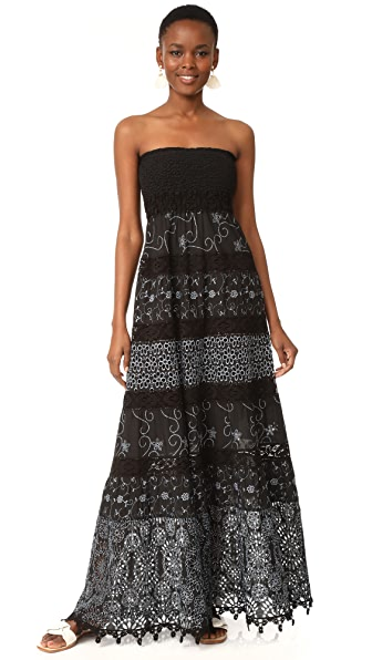 Temptation Positano Strapless Maxi Dress - Black