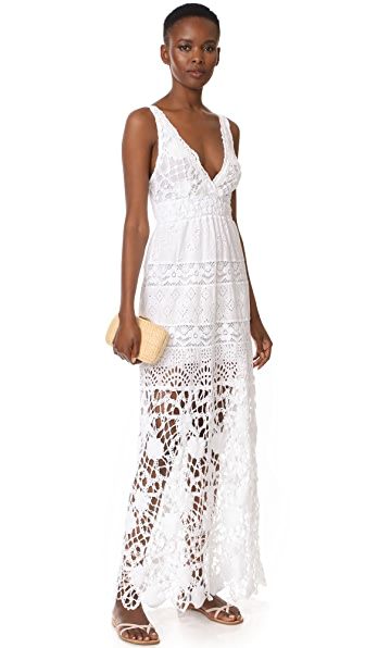 Temptation Positano V Neck Maxi Dress - White