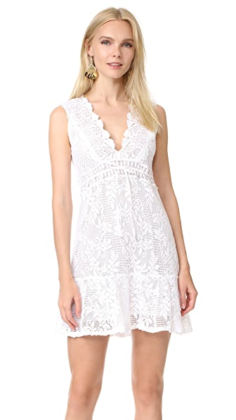 Temptation Positano V Cut Dress - White