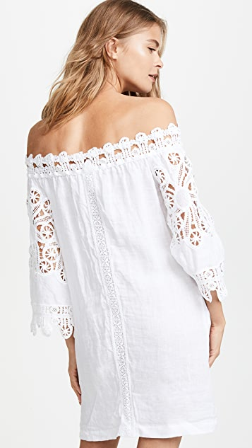 Temptation Positano Off Shoulder Tunic with Lace