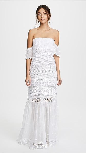 Temptation Positano Длинное платье без бретелек Bora Bora