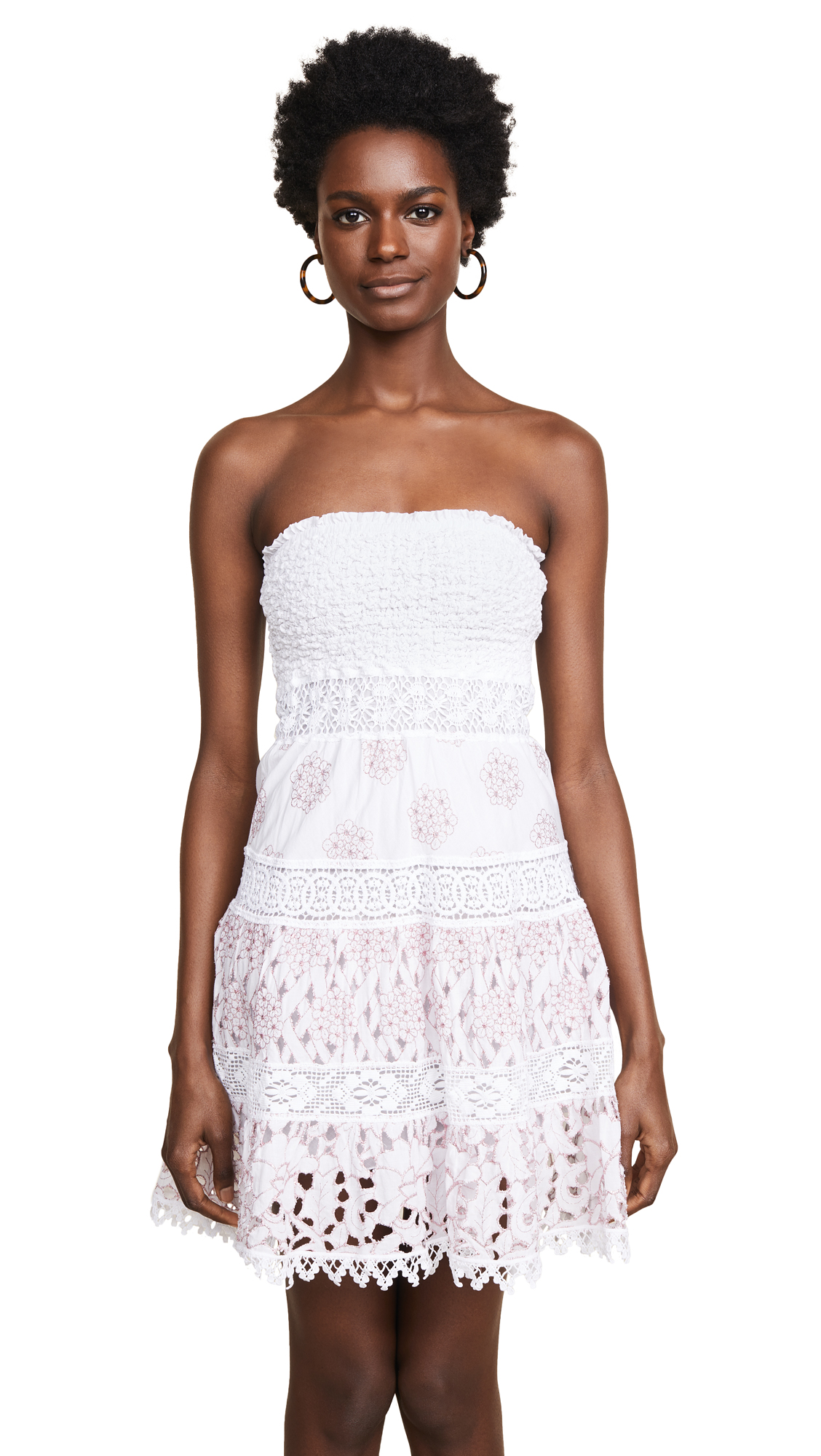 Temptation Positano Giava Ruched Dress In Bianco