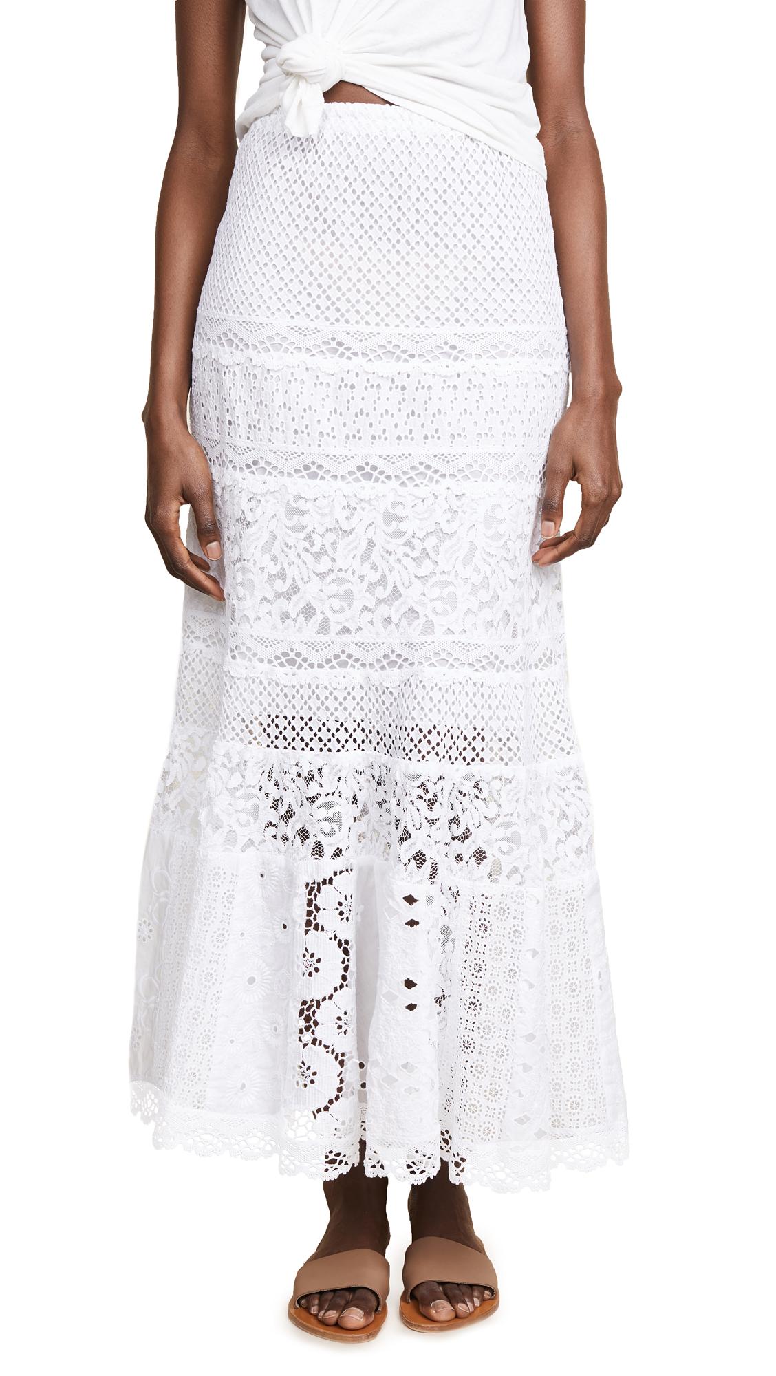 Temptation Positano Andamane Long Skirt In White