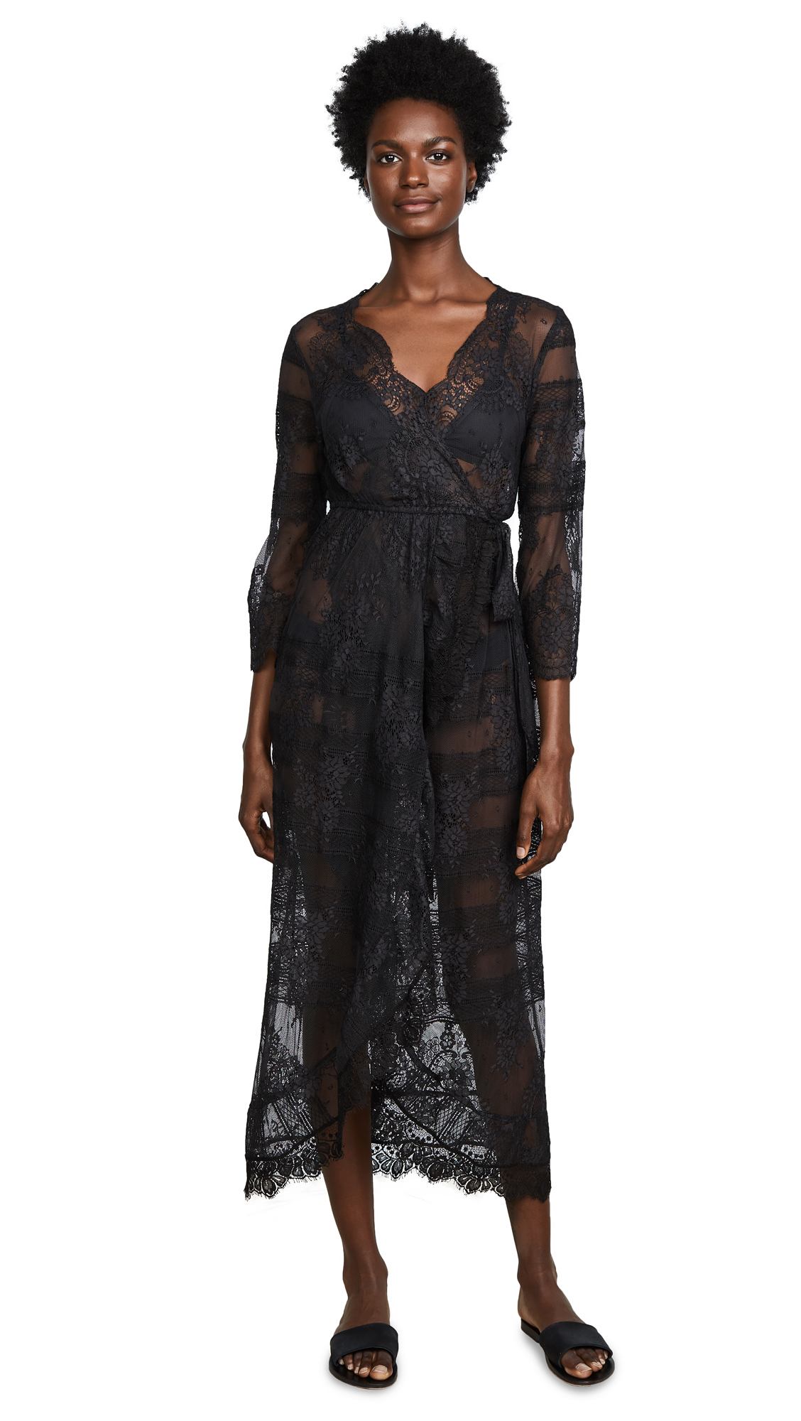 TEMPTATION POSITANO FLORES WRAP DRESS